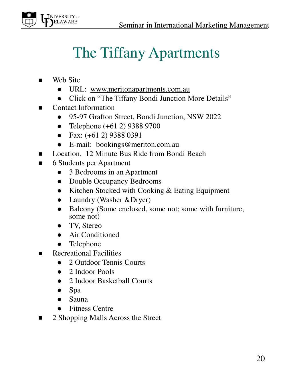 The Tiffany Apartments