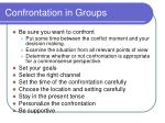 confrontation in groups