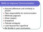 skills to improve communication