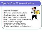 tips for oral communication