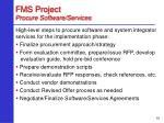 fms project procure software services