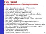 fms project project governance steering committee