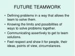 future teamwork