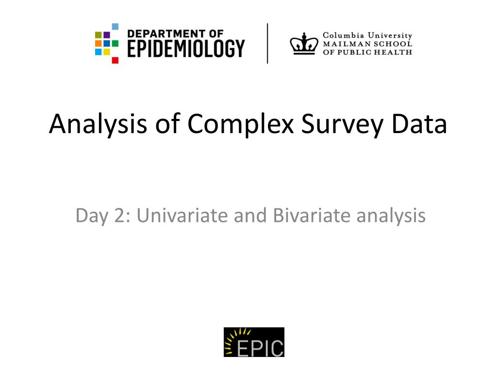 analysis of complex survey data l.