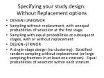 specifying your study design without replacement options13