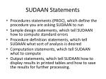 sudaan statements