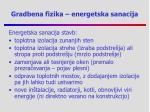 gradbena fizika energetska sanacija