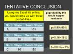 tentative conclusion16