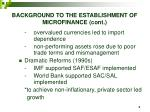 background to the establishment of microfinance cont5