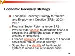 economic recovery strategy