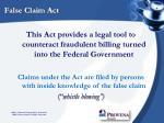 false claim act