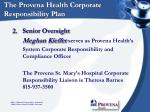 the provena health corporate responsibility plan8