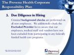 the provena health corporate responsibility plan9