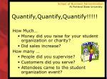 quantify quantify quantify