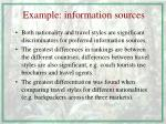 example information sources
