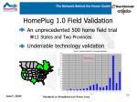 homeplug 1 0 field validation