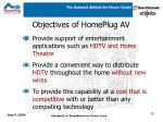 objectives of homeplug av