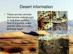 desert information