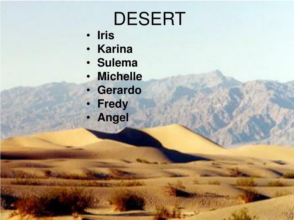 desert l.
