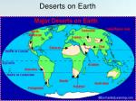 deserts on earth