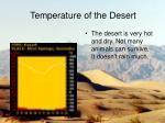 temperature of the desert