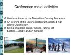 conference social activities