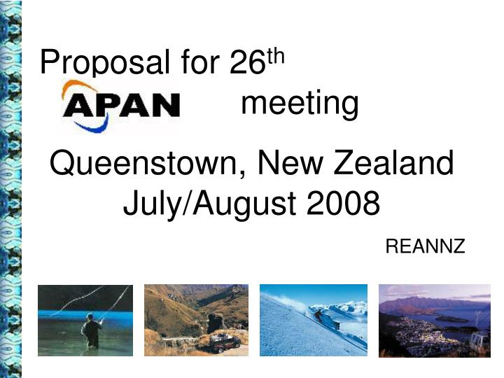 Proposal for 26