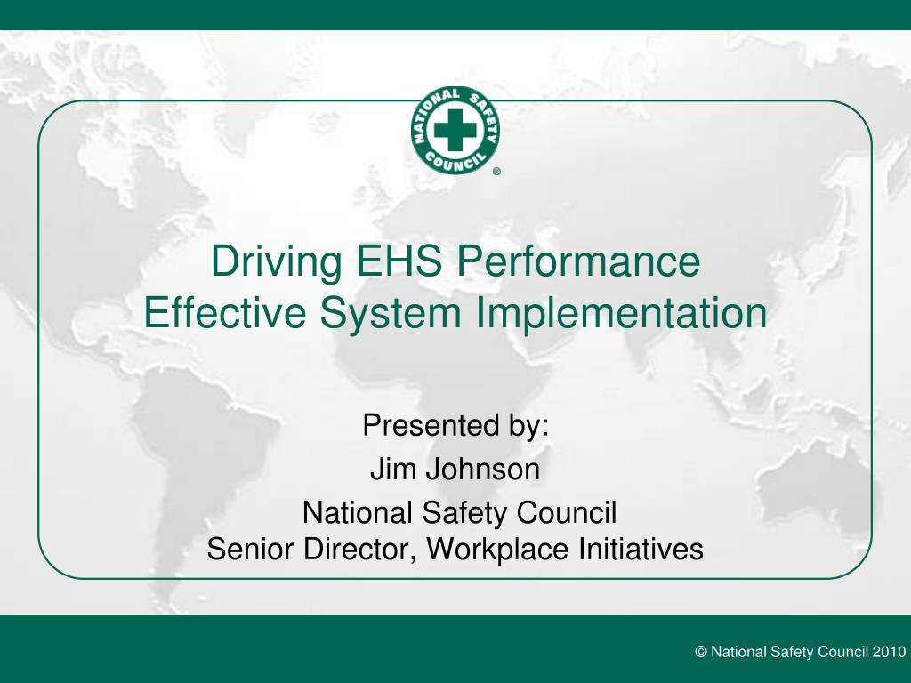 driving ehs performance effective system implementation l.