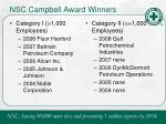 nsc campbell award winners