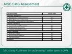 nsc sms assessment