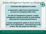 safety management system as solution