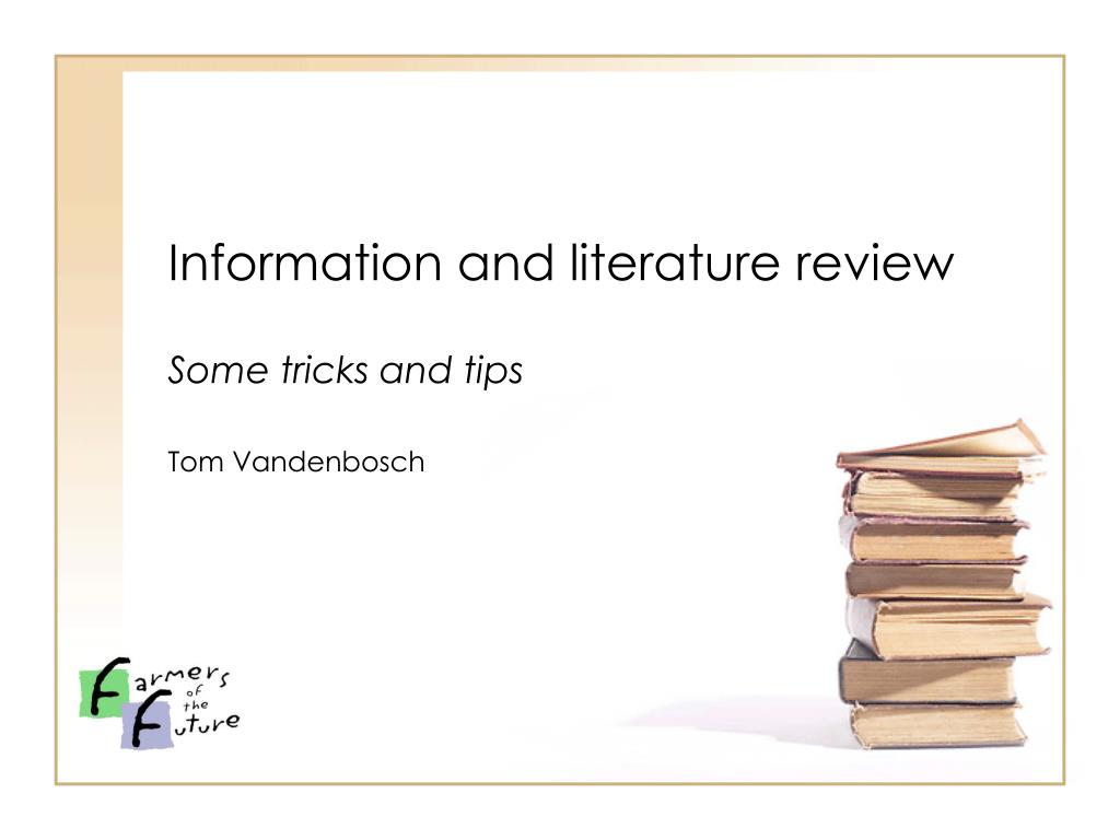 information and literature review l.