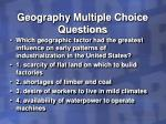 geography multiple choice questions16