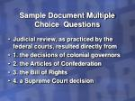sample document multiple choice questions