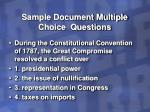 sample document multiple choice questions11