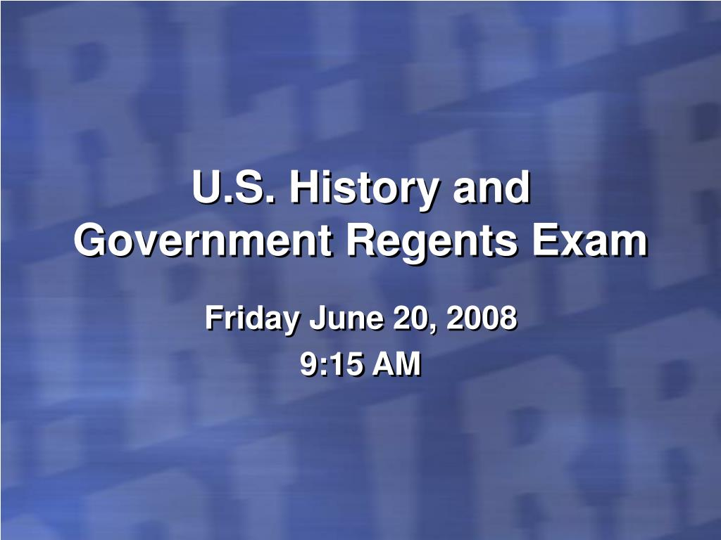 u s history and government regents exam l.