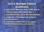unit 6 multiple choice questions33