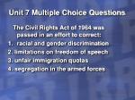 unit 7 multiple choice questions37