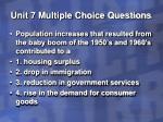 unit 7 multiple choice questions38