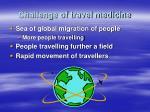 challenge of travel medicine