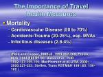 the importance of travel health measures13