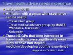 travel health advice needs experience41