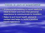 travel is part of experience