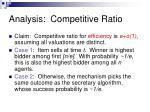 analysis competitive ratio