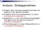analysis strategyproofness