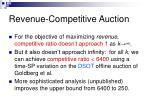 revenue competitive auction