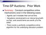 time sp auctions prior work7
