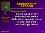 leadership lesson41
