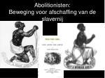 abolitionisten beweging voor afschaffing van de slavernij