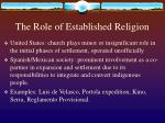 the role of established religion